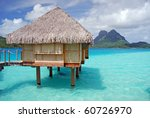 over water bungalow and otemanu ...   Shutterstock . vector #60726970