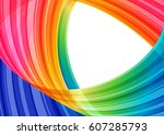 abstract bright striped... | Shutterstock . vector #607285793