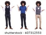 full body afro man | Shutterstock . vector #607312553