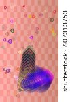 valentine template icon   Shutterstock .eps vector #607313753