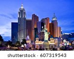 new york  new york on the las... | Shutterstock . vector #607319543