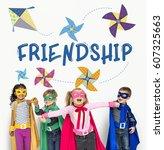 childhood leisure hobby... | Shutterstock . vector #607325663