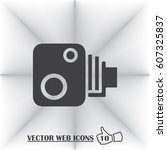 video camera vector icon. web...