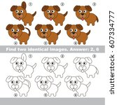 the educational kid matching... | Shutterstock .eps vector #607334777