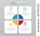 info graphic template for... | Shutterstock .eps vector #607341533