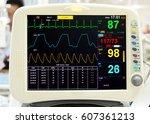 ekg monitor | Shutterstock . vector #607361213