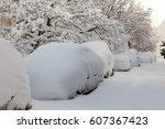 Heavy Snow Cover On The Car