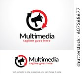 multimedia logo template vector ... | Shutterstock .eps vector #607368677