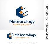 meteorology logo template... | Shutterstock .eps vector #607368683