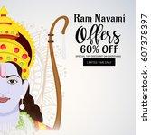 vector illustration of a sale... | Shutterstock .eps vector #607378397