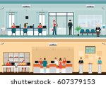 public access to financial... | Shutterstock .eps vector #607379153