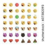 Collection Of  Cartoon Emotico...