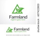 farmland logo template vector... | Shutterstock .eps vector #607422803