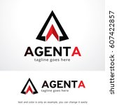 abstract triangle logo template ... | Shutterstock .eps vector #607422857