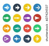 arrow symbols and icons | Shutterstock .eps vector #607424537