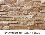 texture wall artificial stone...   Shutterstock . vector #607441637