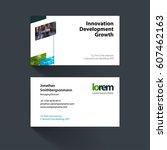 vector business card template... | Shutterstock .eps vector #607462163
