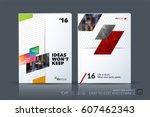 business vector template.... | Shutterstock .eps vector #607462343