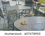 Empty Terrace Cafe Outdoors In...