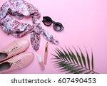 fashion. fashion shoes ... | Shutterstock . vector #607490453