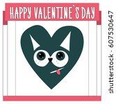 valentine's day card. template...   Shutterstock .eps vector #607530647