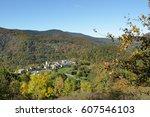Village In Autumn Landscape In...
