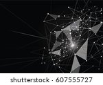 internet connection  abstract... | Shutterstock .eps vector #607555727