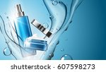 3d realistic cosmetic product... | Shutterstock .eps vector #607598273