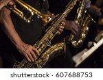 sax player | Shutterstock . vector #607688753