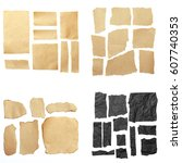 torn paper  space for copy | Shutterstock . vector #607740353