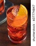 refreshing cold americano...   Shutterstock . vector #607774847