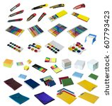 Small photo of Stationery and craft set