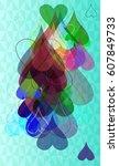 valentine template elements   Shutterstock .eps vector #607849733