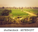 valley of the nile river in... | Shutterstock . vector #607854197