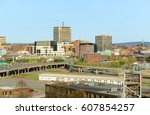 Small photo of Saint John city skyline from the Fort Howe at the mouth of Saint John River, Saint John, New Brunswick, Canada.