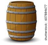 vector illustration of wooden...   Shutterstock .eps vector #607884677