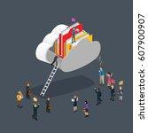 business cloud computing...   Shutterstock .eps vector #607900907