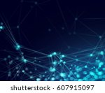 digital network connect | Shutterstock . vector #607915097