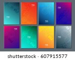technology or modern abstract... | Shutterstock .eps vector #607915577