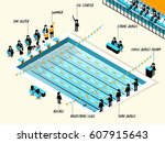 isometric illustration vector... | Shutterstock .eps vector #607915643