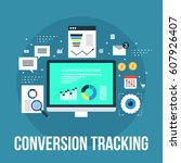 tracking conversion data for...   Shutterstock .eps vector #607926407