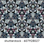 seamless pattern. composed of... | Shutterstock .eps vector #607928027