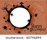 halloween themed frame... | Shutterstock .eps vector #60796894