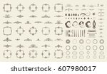 circle and square wicker... | Shutterstock .eps vector #607980017