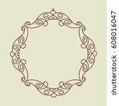 frame in retro style.vector... | Shutterstock .eps vector #608016047