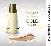 luxury cosmetic bottle package... | Shutterstock .eps vector #608025263
