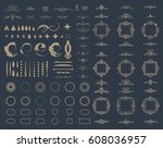 circle and square wicker... | Shutterstock .eps vector #608036957
