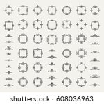 circle and square wicker... | Shutterstock .eps vector #608036963