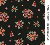 spring blossom. seamless floral ...   Shutterstock .eps vector #608067827