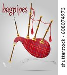 bagpipes wind musical... | Shutterstock .eps vector #608074973